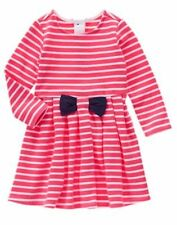 NWT Gymboree Best in Show Striped Long Sleeve Dress 12 18M,3T,4T Toddler Girl