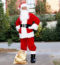 Mens Fashion Adult Deluxe Santa Suit Christmas Santa Claus Cosplay Costume