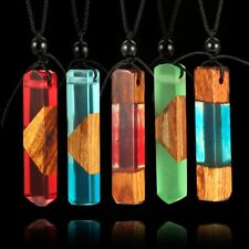 Women Wooden Plastic Pendant Necklace Charming Female Party Necklace Jewelry MT