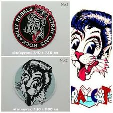 Stray Cats Sew On Iron Embroidered Patch Rock Band Rockabilly Free Shipping Logo