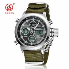 Men Watches Luxury OHSEN Military Sports Watches Digital Canvas Strap Watches Me