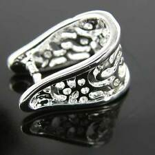 Filigree Ornate Silver Plated Pendant Bails Jewellery Making Findings Beads K209