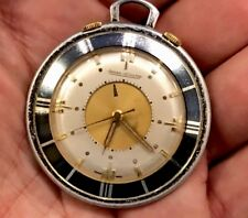 Vintage Jaegar LeCoultre Travel Alarm Pocket Watch Manual Wind.