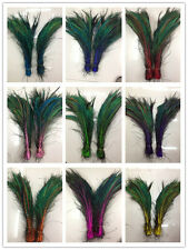 100pcs peacock Feathers sword 14-16 inches/35-40 cm left and right Symmetric