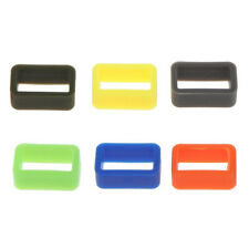 10pcs Candy Color Silicone Rubber Replacement Watch Band/Strap Loop 20mm