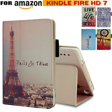 """Smart Leather Shell Fold Stand Case Cover For Amazon Kindle Fire HD 7"""" Tablet"""