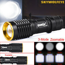 5000LM CREE Q5 AA/14500 Zoomable LED Flashlight Camping Hiking Torch Lamp