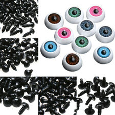Plastic Safety Eyes Teddy Puppet Size Pair Choose Color Pe Animal 10pcs Bear New