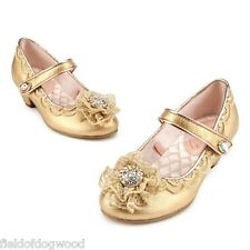 New Disney Store Princess AURORA Maleficent Deluxe Costume Shoes 11/12 13/1