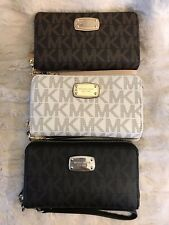 NWT MICHAEL KORS PVC JET SET LG FLAT MF PHONE CASE WALLET WRISTLET VARIOUS