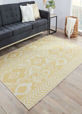 Transitional Traditional Wool Flatwoven Yellow Area Rug **FREE SHIPPING**