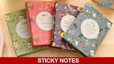 Flower Printed Post-it Note Set , Bird Floral Sticky Note Set with Ballpoint Pen
