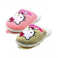 Childrens / Girls Soft fluffy Hello Kitty slippers