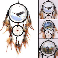 Handmade Dream Catcher Hanging Wall Ornament Decoration Car Feather Feathers New