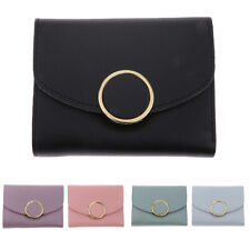 Womens Leather Small Mini Wallet Card Holder Button Coin Purse Clutch Handbag