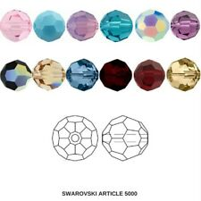 8mm Swarovski 5000 Faceted Round Beads (31 Colors) Jewelry beads FREE SHIPPING