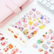 6 sheets DIY Colorful Molang Rabbits kawaii Stickers Diary Planner Journal Note