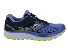NEW WOMENS SAUCONY GUIDE 10 RUNNING SHOES TRAINERS PURPLE / NAVY / CITRON