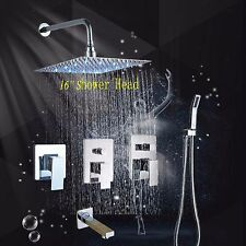 LED Ultra-thin Shower Hand Faucet Mixer Tap Spray Massage Jets Shower System