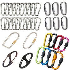 6PCS Outdoor Climb Round Snap Hook Spring Connector Key Ring Buckle Carabiners