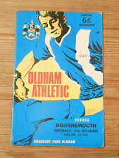 Oldham Athletic Programmes