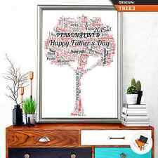 PERSONALISED FAMILY TREE WORD ART FOR BIRTHDAY OR CHRISTMAS NAN MUM DAD UNCLE! i