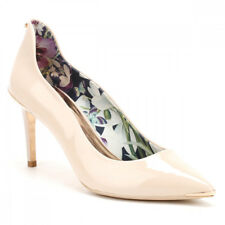 Ted Baker Womens Nude Patent Leather Vyixin Heels Size 3 to 8