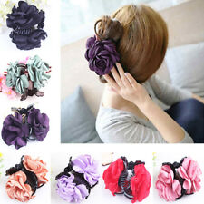 HK- Lady Girl Rose Flower Hair Clamp Plastic Claw Clip Hair Accessory Gift Popul