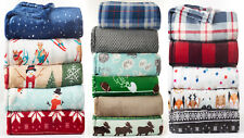 """The Big Throw Super Soft Plush Oversized Throw CHOICE 60"""" x 72"""" Great Gift"""