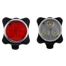 3-LED Bicycle Taillight Bike Tail Light USB Charge Lamp Rear Super Bright