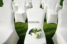 300 White Chair Cover Spandex Lycra Wedding Banquet Anniversary Party Decor
