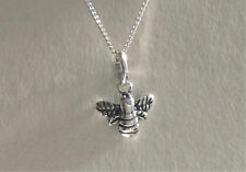 925 Sterling Silver Bumble Bee Necklace Pendant Gift Present UK Seller