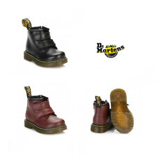 Dr. Martens Infants Cherry Red  / Black Brooklee Velcro Boots Size 3 - 5