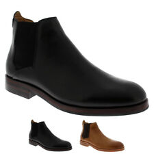 Mens H By Hudson Tonti Calf Leather Smart Formal Chelsea Ankle Boots UK 6-12