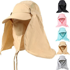 Baseball Cap Camping Hiking Fishing Ear Flap Sun Neck Cover Visor Sunscreen Hat