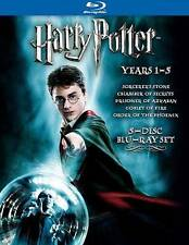 Harry Potter Years 1-5 (Blu-ray Disc, 2008, 5-Disc Set) FREE SHIPPING