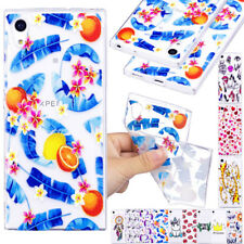 For Sony Xperia XA1 Ultra Slim Clear Pattern Soft Silicone TPU Protectvie Case