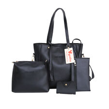 4pcs Set Women Handbag Lady Shoulder Bags Tote Purse Messenger Satchel Leather