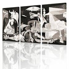 READY TO HANG CANVAS Guernica Pablo Picasso 3 Panels Oil Paintings Prints Frame