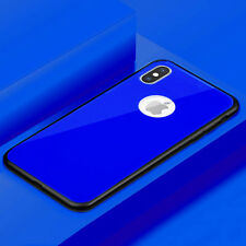 Luxury Tempered Glass Back Rear Hybrid Shockproof Case Cover for iPhone X 8 Plus