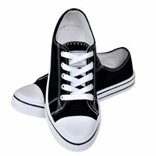 Canvas Sneaker Classic Women Lace-up Shoes Black Size 41 Low-top Comfortable Fit