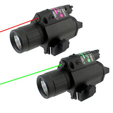 Tactical Green Red Laser Sight w/ 200 LM Flashlight Combo Aluminum Construction