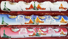 Candle Holders Christmas Decoration Glass Tea Light Hand Painted Advent Wohnen