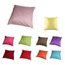 Suede Solid color Pillow cover 45cm*45cm rose red H9I7@F0F0
