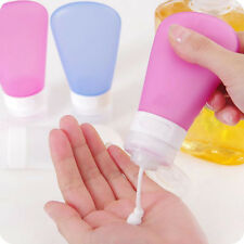 Refillable Silicone Bottle Travel Kit Lotion Bath Shampoo Containers Flowery
