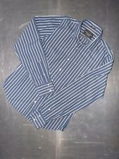 Abercrombie & Fitch mens cotton long sleeve striped shirt size L
