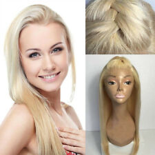 100% Brazilian Human Hair Wig Straight Wavy Lace Front Wigs No Tangle Blonde 613