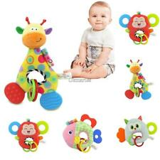 Baby Doll Toy With Teether Animal Stuffed Plush Rattle Ring Doll Teething OK