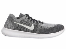 NEW MENS NIKE FREE RN (RUN) FLYKNIT 2017 RUNNING SHOES TRAINERS BLACK / WHI / VO