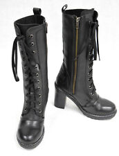 """Harley-Davidson Women's NIB """"Lunsford"""" Black Leather Motorcycle Boots D83832"""